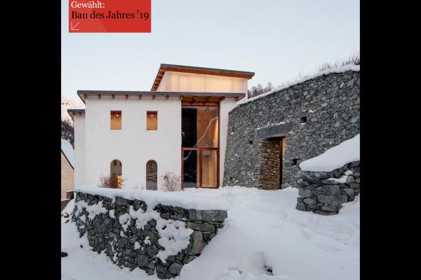 Muzeum Susch gewählt: Bau des Jahres 2019 - swiss architects