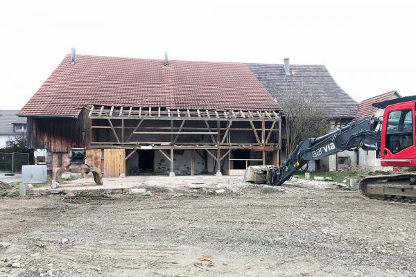 Dorfschüür Würenlingen Rückbau Januar 2019
